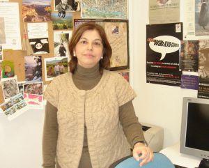 Pilar en el despacho